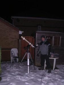 Mark Radice Observing in Snow