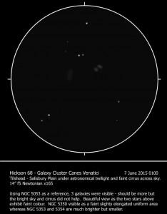 Hickson 68 Through 14 Inch Newtonian