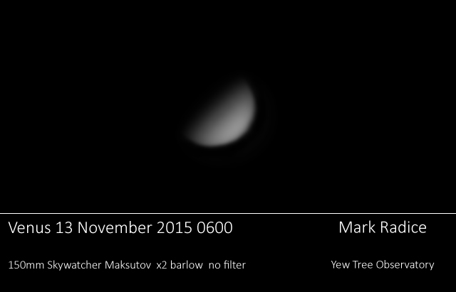 Venus through 150 Mak